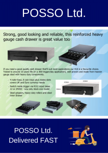 Posso Ltd Cash Drawers epos
