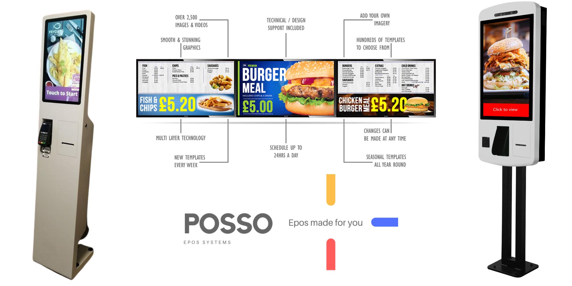 Self order kiosk & Digital signage