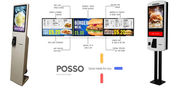 Digital signs and self order kiosks